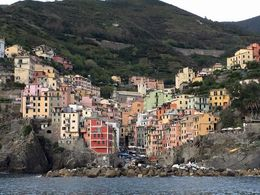 This is the most Southern Village of the 5...Riomaggiore..from the boat ride.... , cwgiggles1101 - October 2015