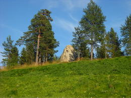 Viking-head stone on Holmenkollen , Hang N - August 2012