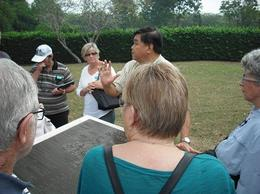 Our tour guide explaining how the Japanese duped the British before their occupation. , Arthur M - October 2014