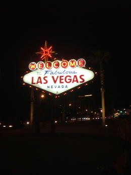 Las Vegas Sign @ NIght , Dino C - January 2013
