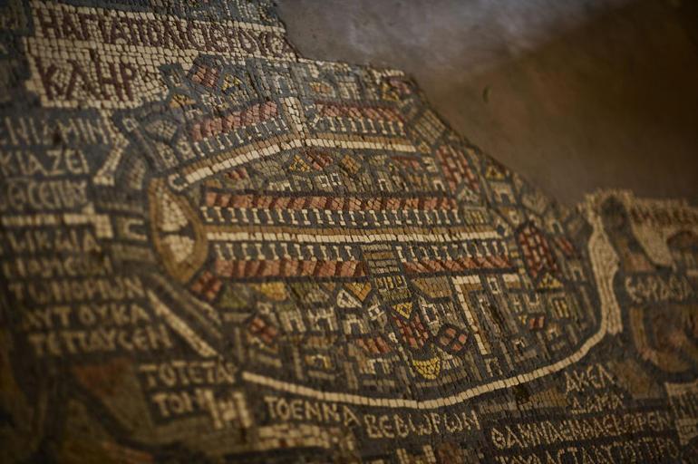 Madaba mosaic map of holy land - Amman