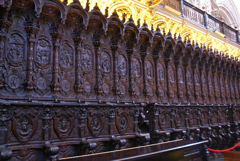 Mahogany carvings in Church inside Mosque - Seville