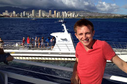 Brock with Honolulu in the background, Jules & Brock - September 2012