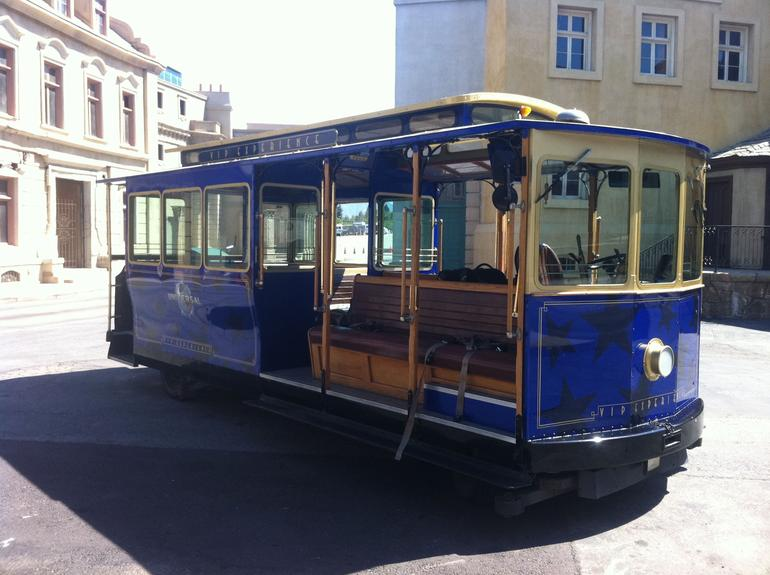 Our private tour trolley - Los Angeles