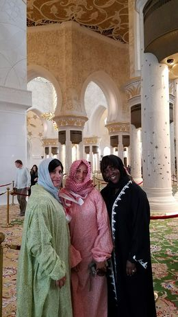 These are my friend Susan, Jeannie and myself inside this beautiful mosque , coco - June 2016