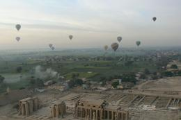 Hot Air Balloon over Luxor: One really felt like one was watching another world from a balloon in a different world!, Beatrice P - January 2009