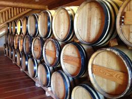 Wine barrels, Jules & Brock - July 2012