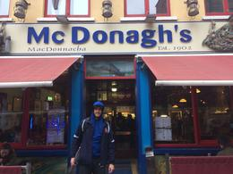 At Mc Donagh's in Galway ranked 2 in Ireland for Fish and Chips , Florence Ariana F - October 2016