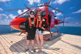 Arriving at the Great Barrier Reef by Helicopter , Melissa N - October 2016