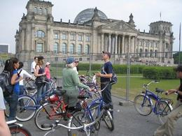 Taking a little rest and learning about the history of Berlin. - October 2008