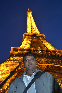 Eiffel at Night with Me :) , Emmanuel C - November 2011