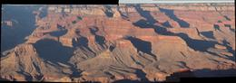 A panorama of the canyon with sharp shadows showing the textures., Carl L - October 2010