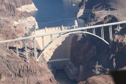 Aerial view of Hoover Dam , Graham R - December 2014