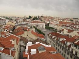 View of Rossio and surrounding buildings - July 2010