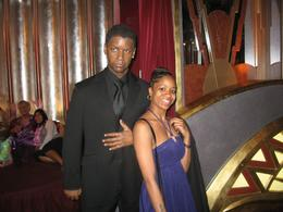 Me taking a pic with Denzel at the wax museum, Jasmine .T - April 2009
