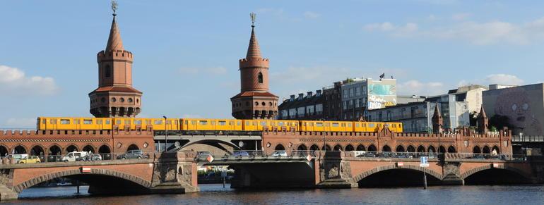 Oberbaumbrucke bridge over Spree river - Berlin