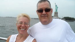 Me and my husband on cruise, our 35th wedding anniversary. , CAROL L - September 2013