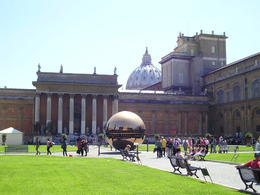 Gardens in the Centre of the Vatican Museum and the Golden Globe , Christine L - May 2012