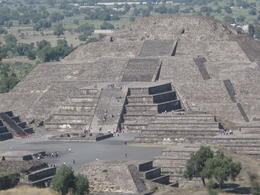 pyramid of the moon: taken from on top of the pyramid of the sun , Carol P - March 2012