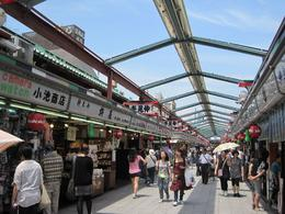 Shopping streets outside of Asakusa Temple - July 2010