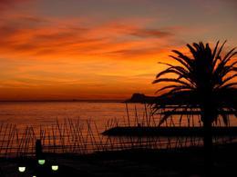 Sitges at sunset. - November 2008