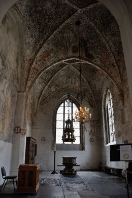 The inside of St. Peter's Church, built in the 1300's. , Richard H - June 2015