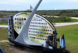 Sign showing all Apollo and Shuttle Mission Patches with 39A in Background. , Toni-Lee A - August 2017