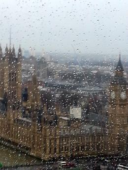On the London Eye taking photos through the rain. , hope - January 2014