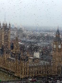 On the London Eye taking photos through the rain. , hope - January 2014