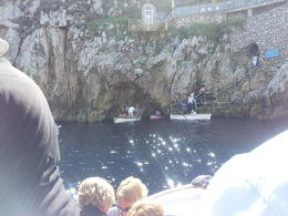 Waiting to go into the Blue Grotto , Diana - November 2013