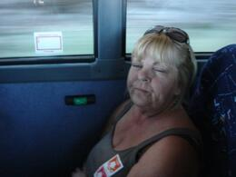 Friend totally bored in terrible seats on the way to grand canyon we felt like we were sitting on the floor, BRENDA C - July 2010