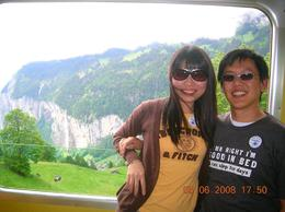 Guide helped us take the picture. Great scenery behind., Dingyue X - June 2008