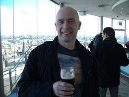 myself at end of tour enjoying a pint of guinness before heading to see the rest of dublin. , martin g - April 2013