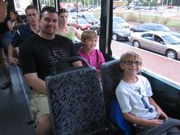 Clay, Adam and Josh are enjoying the Washington DC tour! , Kathleen W - August 2014