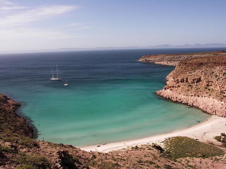 Ensenada Grande beach, Isla Partida, Sea of Cortez, Baja California, Mexico - San Diego