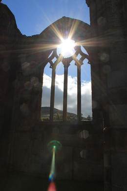 View of the sun through an Abbey wall. , Destini K - November 2012