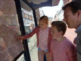 Hier kiezen we hoe we reizen naar de volgende activiteit met onze Copenhagencard. , Heidy T - May 2014