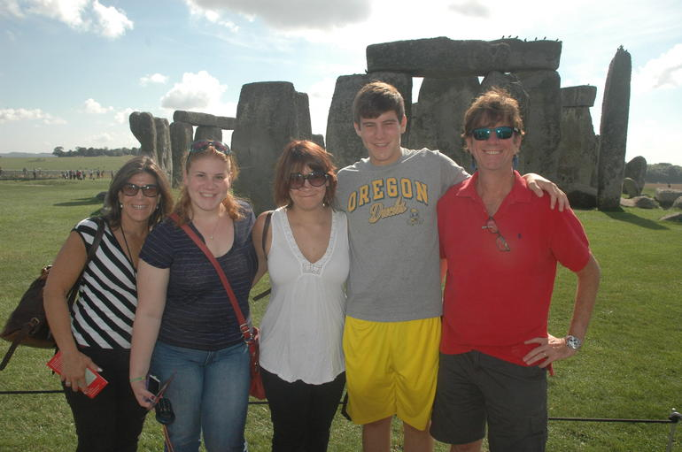 Our family at Stonhenge. - Paris