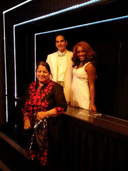 My wife with two of the lead singers and a dancer. , Randhir J - June 2014