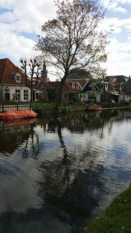 Walking along the canal in Edam , Bridget L - May 2016