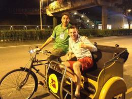 Trishaw ride, Asha & Brock - July 2013