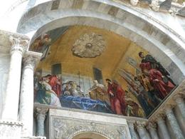 This is a mosaic in one of the arches outside of St. Mark's., Andrew C. C - July 2009