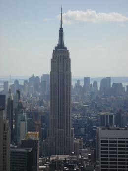 The Empire State Building seen from the top of the rock. - July 2009