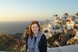The most picturesque spot Santorini island , Joyce - January 2014