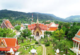 Wat Chalong temple which is between Rawai & Phuket town - June 2011