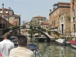 The entrance into the Grand Canal by water taxi...what a beautiful way to enter the city , STEFANIE S - May 2015