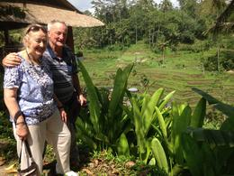 Anne and Bruce overlooking the rice terraces , Mr Bruce J J - October 2016