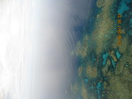 helicopter over Great Barrier Reef , Linda W - March 2017