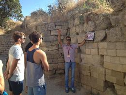 Guide Seyhan explains how the Trojans built these ancient walls - September 2013
