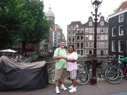 Us by one of the many canals of Amsterdam , Frank N - July 2016